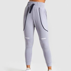 Gymshark Movement Mesh Joggers, Lilac Gray Medium
